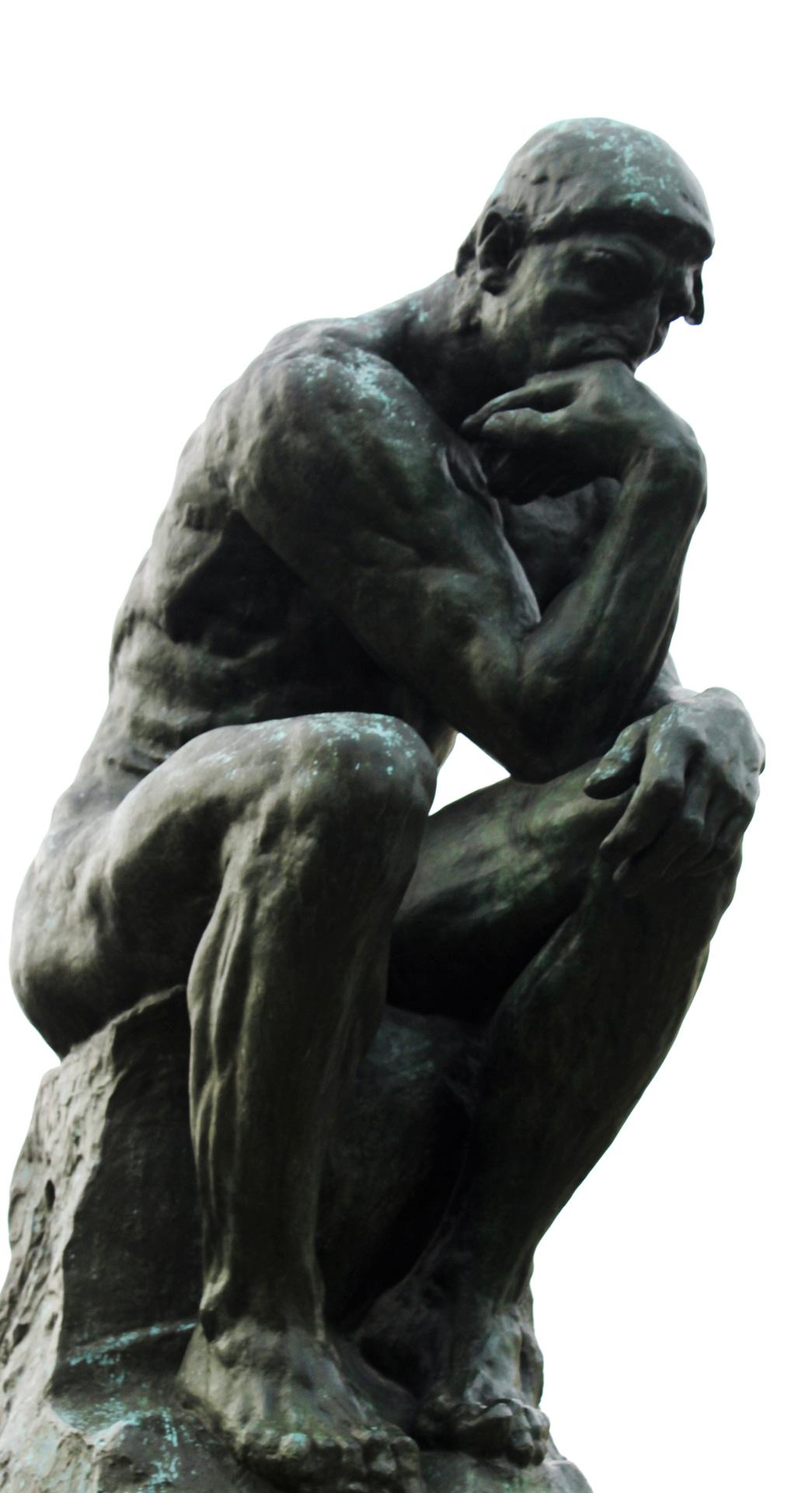 Der Denker Er hat viele Gedanken